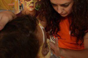niños cumpleaños cara pintada
